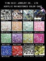 2000pcs  Free shipping 9mm mink colors AB imitation   Acrylic flatback rhinestone
