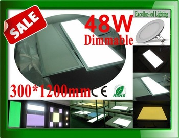 High output lumen (LM) Dimmable 48W led panel lighting dimmer intensity 300*1200*12mm