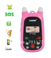 Low Radiation A88 Child mobile phone in pink+black color ,  A88 child mobile phone with paws keypad