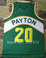 Free Shipping!!! #20 Gary Payton green jersey