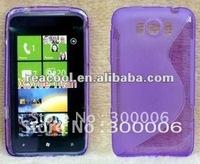 100pcs/lot S Line TPU Gel Case for HTC Titan X310e