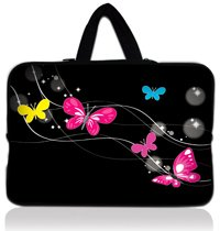 "15"" Colorful Butterfly Neoprene Laptop Soft Case Sleeve Bag Pouch+Hide Handle For 15.6"" Dell Inspiron / HP Pavilion PC(China (Mainland))"