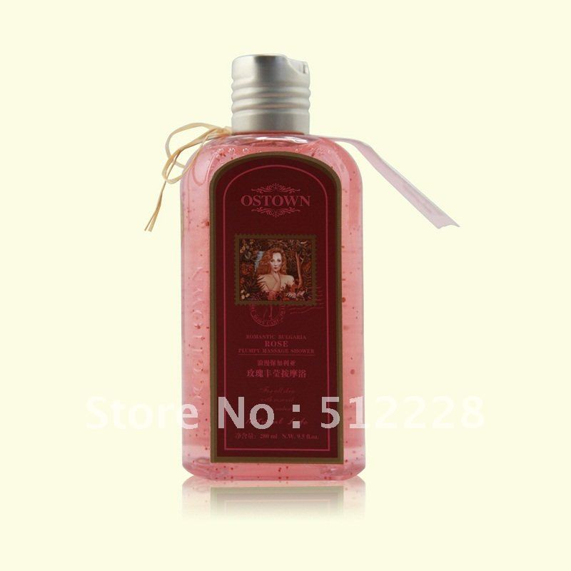 Rose Abundance Fragrant Massage Shower Gel, body wash, bath lotion,moisturizing, hydrating, free shipping(China (Mainland))