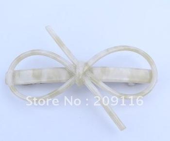 Promotion Wholesale Unique Leopard Simple Design Butterfly Bow Tie Hair Barrettes  various colors available