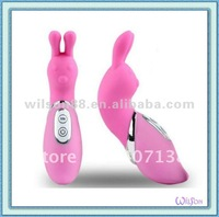 sweet rabbit vibrator, 7 function vibrating silicon sex toy for woman or girl.
