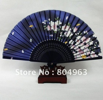 Free Shipping of hight japanese 100% silk fan,folding fan,craft fan,bamboo fan with silk