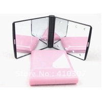 8 Lled Mirror Fashion Girls Favorite Pocket Cosmetic Mirror Compact Hand Held Mirror New Unique Design Free Shipping 100 pcs