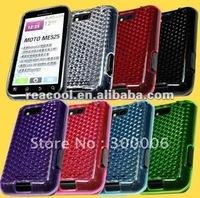 100pcs/lot Diamond pattern TPU skin Gel Case Cover for Motorola Defy MB525 ME525