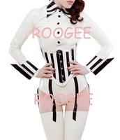latex shirt+corset+stockings
