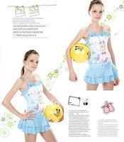 (10Pcs/Lot)  Free Shipping Wholesale 2012 New High Quality Children's/Kids Swimsuit,Cute Girls Lovely Cartoon One-Piece Swimwear
