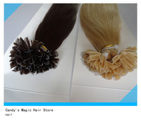 20INCH  100g/pack AAA nail hair U shape  hair extensions 100% Indian keratin  Human Hair 18''-24'' fast shipment!!!