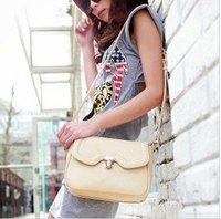 The new European style simple and stylish shoulder bag Messenger bag pu handbag