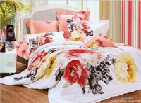 Hot Beautiful 4PC 100% COTTON COMFORTER DUVET DOONA COVER SET QUEEN / KING SIZE bedding set 4pcs Chinese watercolor painting 2