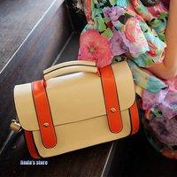 Summer paragraph retro package belt decorated portable shoulder Messenger  pu handbag