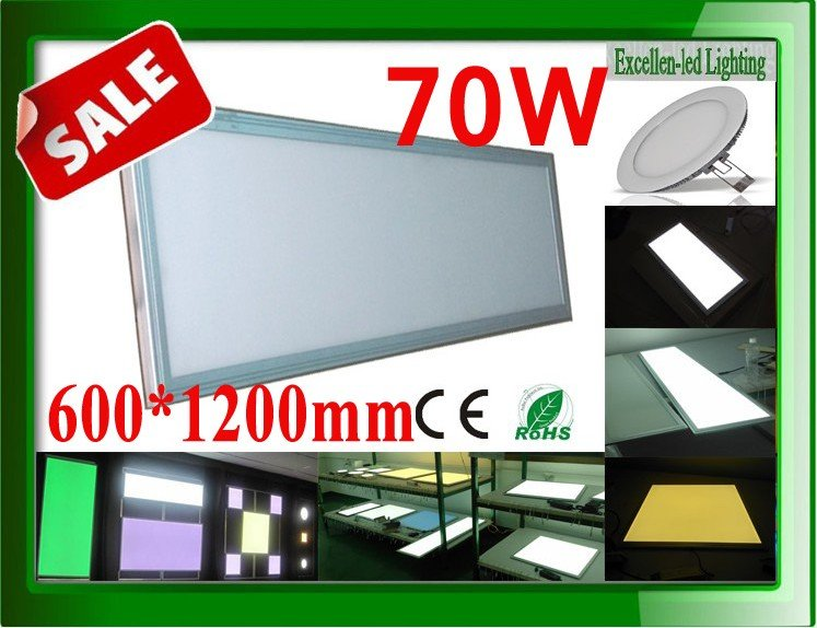 led flat panel light 70W 600*1200*12mm Shop Windows, hotel, restaurant, indoor decorative lighting(China (Mainland))