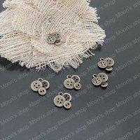 (20746)Alloy Findings,charm pendants,Antiqued style bronze tone Button 50PCS