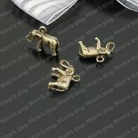 (22693)Alloy Findings,charm pendants,Antiqued style bronze tone Elephant 30PCS