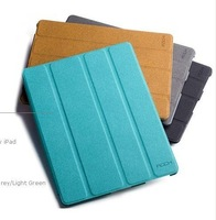 100% ROCK Eternal series case for The New iPad.leather case for Apple New iPad iPad3 WholeSale! free shipping by china post air