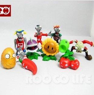 Free Shipping EMS 10 pcs Plants vs Zombies PVZ Collection Figures Toys Wholesale 10sets/lot