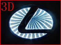 White 3D Car Logo Light For LEXUS SG300,Car Badge Light,Auto Led Light,Auto Emblem Led Lamp  Free Shipping
