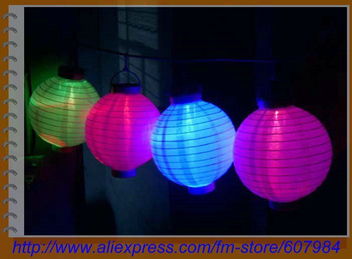 Wholesale 2012 best gift toy Solar Powered Chinese Lantern Patio Garden Party Festival Decoration Yard LED light +Free Shipping(China (Mainland))