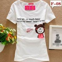 Free shipping  new fashion 95% Cotton O-neck Short sleeve T-shirt Leisure Primer Slim Tops outerwear t shirt women dress MD.236