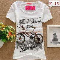 Free shipping  new fashion 95% Cotton O-neck Short sleeve T-shirt Leisure Primer Slim Tops outerwear t shirt women dress MD.15