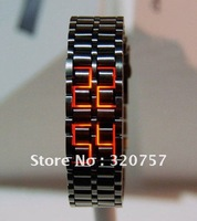 Wholesale - Led watch IRON SAMURAI Japanese Inspired Volcanic lava mens watches metal mix color