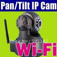 Hot sale +WPA Wireless Wi-Fi Internet PTZ Dual Audio IP webcam wireless camera  WIFI NC541W +free shipping
