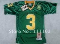 Wholesale - Free Shipping Kids Norte Dame Fighting Irish 3# Joe Montana Green College Throwback Jersey size:S~XL+Mix Order