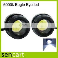 10W 1000LM 6000K Eagle Eye White LED Light for Car (12V / Pair)