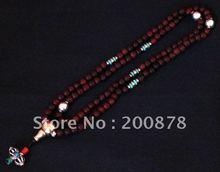 wholesale red sandalwood mala beads