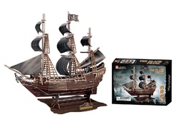 Stereo jigsaw Black Pearl Pirates of the Caribbean ship model kit 3D paper puzzle toy children gift(China (Mainland))