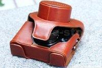 New Arrival Leather Camera Bag Case For Fujifilm FUJI Finepix X10 LC-X10 Brown