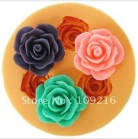 New 3D Mini 3-Flower 1.8cm (F0110)  Silicone Handmade Fondant Mold DIY Mold Cake Decorating