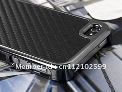 3.99$ MOQ:1PCS Carbon Fiber Chrome Hard Case Cover Leather Skin Case For iPhone 4 4G 4S Freeshipping(China (Mainland))