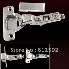 Cabinet Furniture Buffering Hydraulic Half Overlay Hinge 2Pcs(China (Mainland))