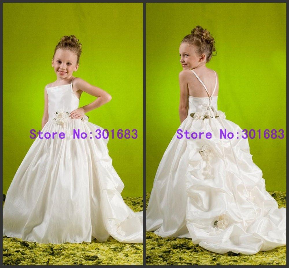 White flower girl dress with train image collections flower exelent white flower girl dress with train pictures wedding and white flower girl dresses with train mightylinksfo