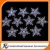 Free shipping, snowflake rhinestone embellishment for invitation, diamante embellishment, diamante cluster for