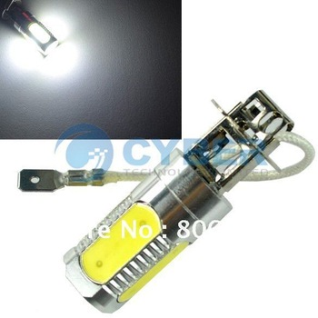 New 7.5W Super Bright H3 Car Auto LED White DC 12V Day Driving Fog Light Bulb Lamp Free Shipping