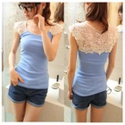 The Cheapest Price Free Shipping Slim Style Mesh Crochet Summer Tank Tops 7 Colours Women Vest Beautiful Good Quality TS-052(China (Mainland))