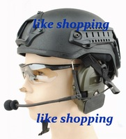 tactical Helmet with NVG Mount ARC Rail black free shipping