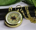 Free shipping big size New Faux compass Pocket Watch Necklace, pocket watch necklace.bronze color