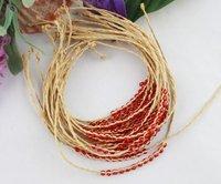 FREE POSTAGE 12PCS Red glass seed beaded braided raffia bracelets #21628
