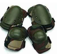 Skateboard Paintball Camo Woodland Knee & Elbow Pads free ship