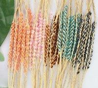 FREE POSTAGE 15PCS Mixed colours Seed Beads braided raffia wish bracelets #21632