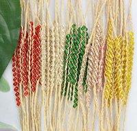 FREE POSTAGE 15PCS Mixed colours Glass Beaded braided raffia wish bracelets #21633