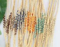 FREE POSTAGE 20PCS Mixed colours Glass Seed Beaded braided raffia wish bracelets #21635