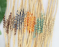 FREE POSTAGE 20PCS Mixed colours Glass Seed Beaded braided raffia wish bracelets #21635