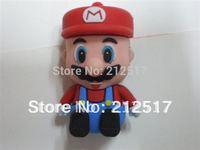 Free shipping supper Mario cartoon USB flash drive U-disk MEMORY Stick Mario pendrive 4G 8G 16G